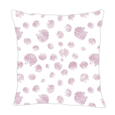 Seashell Throw Pillow Size: 16 H x 16 W x 5 D, Color: Lilac