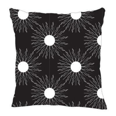 Sun Throw Pillow Size: 18 H x 18 W x 5 D, Color: Black/White