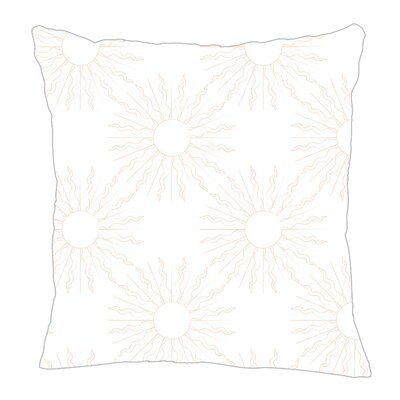 Sun Throw Pillow Size: 16 H x 16 W x 5 D, Color: Peach