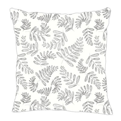 Fern Throw Pillow Size: 20 H x 20 W x 5 D, Color: Black