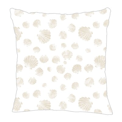 Seashell Throw Pillow Size: 16 H x 16 W x 5 D, Color: Sand