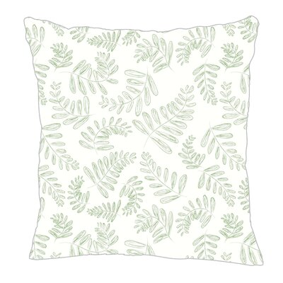 Fern Throw Pillow Size: 16 H x 16 W x 5 D, Color: Sage