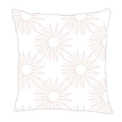 Sun Throw Pillow Color: Pink, Size: 18 H x 18 W x 5 D
