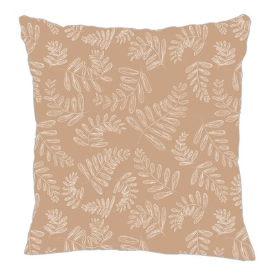 Fern Throw Pillow Size: 16 H x 16 W x 5 D, Color: Light Brown/White