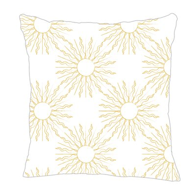 Sun Throw Pillow Size: 16 H x 16 W x 5 D, Color: Yellow