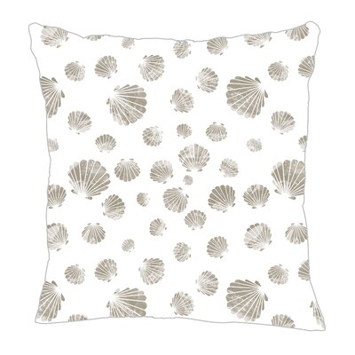 Seashell Throw Pillow Size: 18 H x 18 W x 5 D, Color: Gray