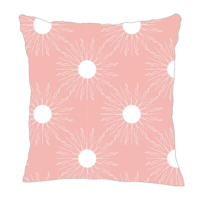 Sun Throw Pillow Size: 16 H x 16 W x 5 D, Color: Pink/White