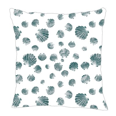 Seashell Throw Pillow Color: Teal, Size: 20 H x 20 W x 5 D