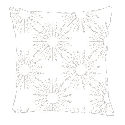 Sun Throw Pillow Size: 16 H x 16 W x 5 D, Color: Gray