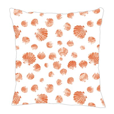 Seashell Throw Pillow Size: 16 H x 16 W x 5 D, Color: Coral