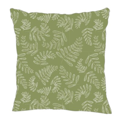 Fern Throw Pillow Size: 18 H x 18 W x 5 D, Color: Sage/White