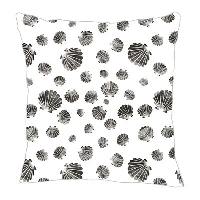 Seashell Throw Pillow Size: 18 H x 18 W x 5 D, Color: Black