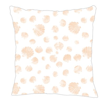 Seashell Throw Pillow Size: 16 H x 16 W x 5 D, Color: Peach