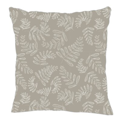 Fern Throw Pillow Size: 16 H x 16 W x 5 D, Color: Gray/White