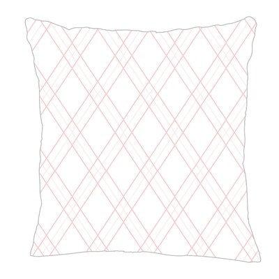 Argyle Throw Pillow Color: Pink, Size: 18 H x 18 W x 5 D