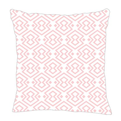 Aztec Throw Pillow Size: 20 H x 20 W x 5 D, Color: Pink/White