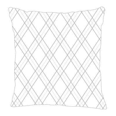 Argyle Throw Pillow Size: 20 H x 20 W x 5 D, Color: Gray