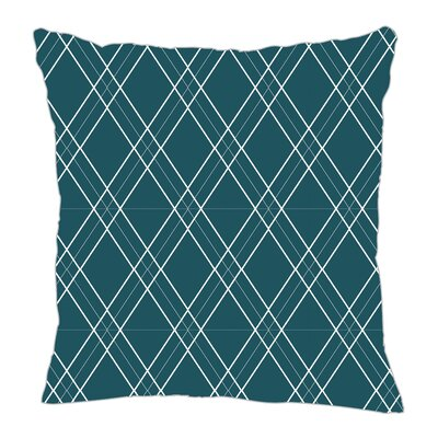 Argyle Throw Pillow Size: 20 H x 20 W x 5 D, Color: Teal