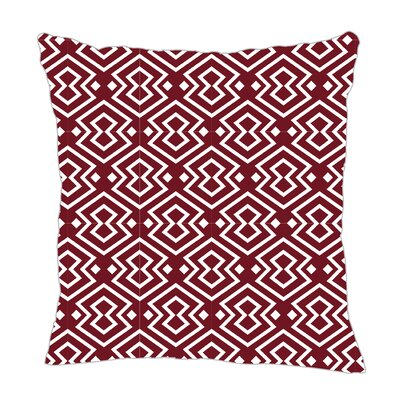 Aztec Throw Pillow Size: 16 H x 16 W x 5 D, Color: Maroon
