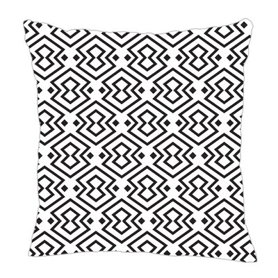 Aztec Throw Pillow Size: 18 H x 18 W x 5 D, Color: Black