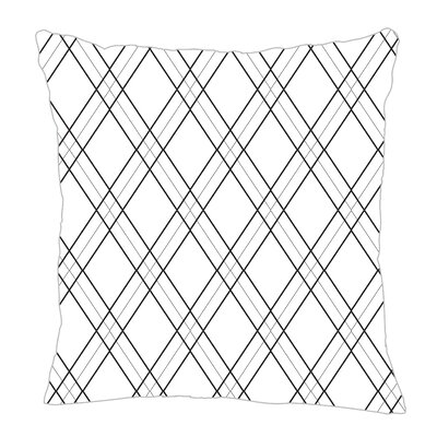 Argyle Throw Pillow Size: 16 H x 16 W x 5 D, Color: Black