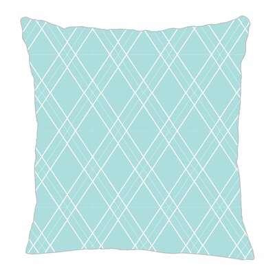 Argyle Throw Pillow Color: Light Blue, Size: 18 H x 18 W x 5 D