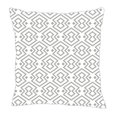 Aztec Throw Pillow Size: 18 H x 18 W x 5 D, Color: Gray/White