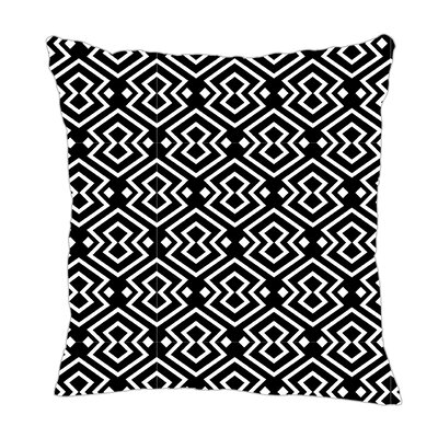 Aztec Throw Pillow Size: 20 H x 20 W x 5 D, Color: Black/White