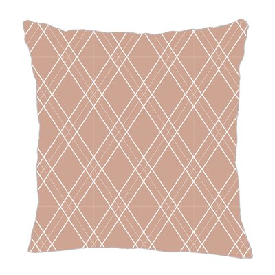 Argyle Throw Pillow Size: 18 H x 18 W x 5 D, Color: Light Brown