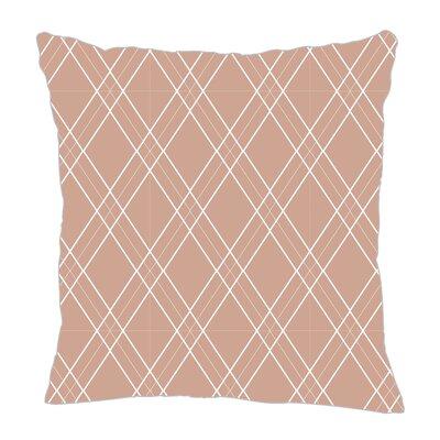 Argyle Throw Pillow Color: Light Brown, Size: 18 H x 18 W x 5 D