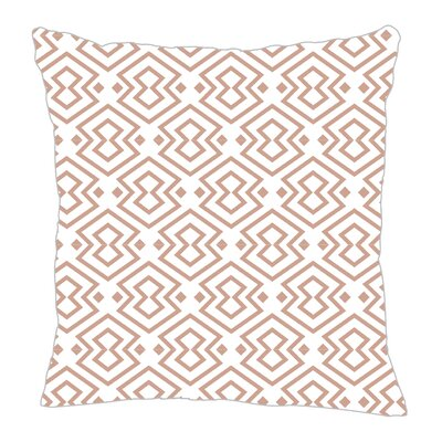 Aztec Throw Pillow Color: Light Brown, Size: 18 H x 18 W x 5 D