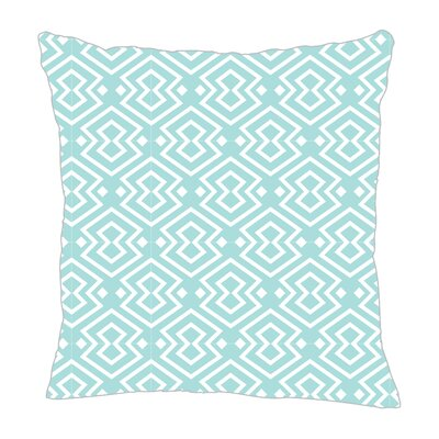 Aztec Throw Pillow Color: Light Blue, Size: 18 H x 18 W x 5 D