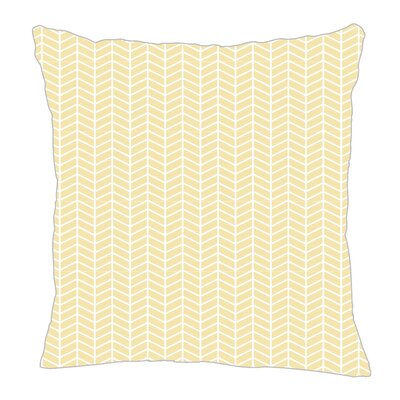 Herringbone Throw Pillow Size: 16 H x 16 W x 5 D, Color: Pale Yellow