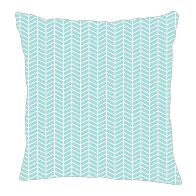 Herringbone Throw Pillow Size: 20 H x 20 W x 5 D, Color: Light Blue