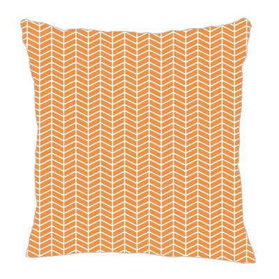 Herringbone Throw Pillow Color: Mango, Size: 16 H x 16 W x 5 D