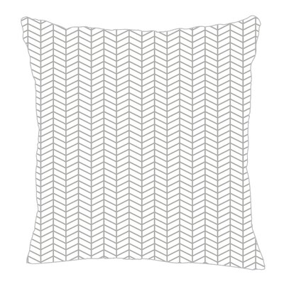 Herringbone Throw Pillow Size: 18 H x 18 W x 5 D, Color: Gray