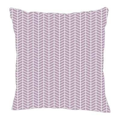 Herringbone Throw Pillow Size: 16 H x 16 W x 5 D, Color: Lilac