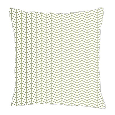 Herringbone Throw Pillow Size: 16