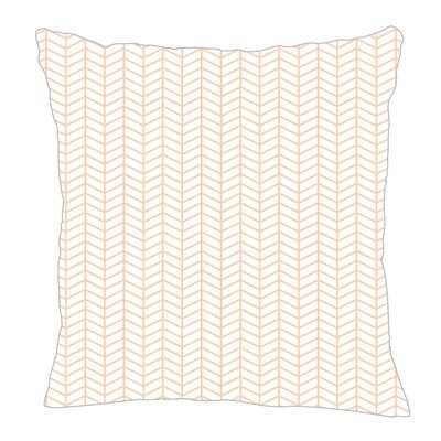 Herringbone Throw Pillow Size: 20 H x 20 W x 5 D, Color: Peach/White