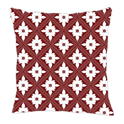Kaleidoscope Throw Pillow Size: 20 H x 20 W x 5 D, Color: Maroon