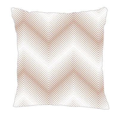 Modern Chevron Throw Pillow Size: 18 H x 18 W x 5 D, Color: Light Brown/White