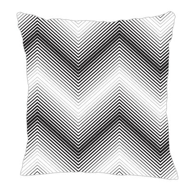 Modern Chevron Throw Pillow Color: Black, Size: 16 H x 16 W x 5 D