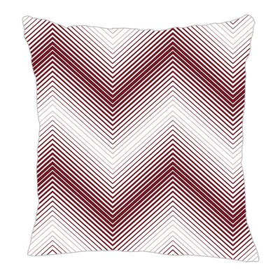 Modern Chevron Throw Pillow Size: 18 H x 18 W x 5 D, Color: Maroon