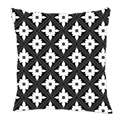 Kaleidoscope Throw Pillow Size: 18 H x 18 W x 5 D, Color: Black/White