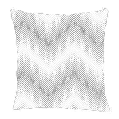 Modern Chevron Throw Pillow Size: 18 H x 18 W x 5 D, Color: Gray