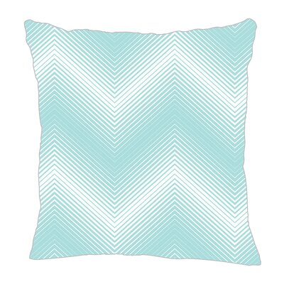 Modern Chevron Throw Pillow Size: 16 H x 16 W x 5 D, Color: Light Blue