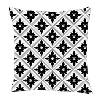 Kaleidoscope Throw Pillow Color: Black, Size: 16 H x 16 W x 5 D