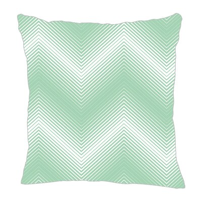 Modern Chevron Throw Pillow Size: 18 H x 18 W x 5 D, Color: Mint