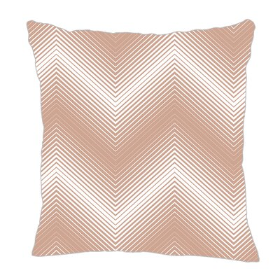 Modern Chevron Throw Pillow Size: 16 H x 16 W x 5 D, Color: Light Brown