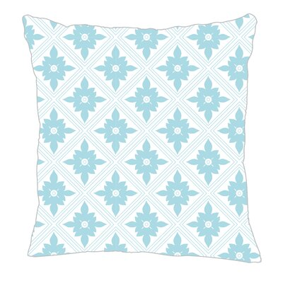 Kaleidoscope Throw Pillow Size: 18 H x 18 W x 5 D, Color: Light Blue